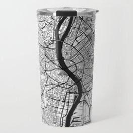 Budapest Map Gray Travel Mug