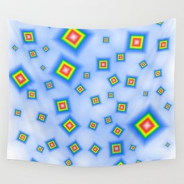 Pattern of disorganized multicolored paintings Wall Tapestry