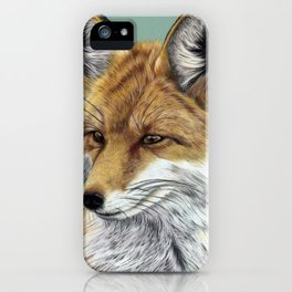 Fox Portrait 01 iPhone Case