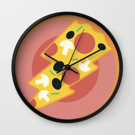 Flash pizza Wall Clock
