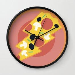 Flash pizza Wall Clock