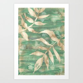 leaves in relief Art Print