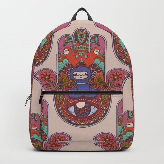 Hamsa Sloth Backpack