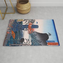 Historic Spots At Urashima, Kanagawa, Tokaido Famous Sights - Digital Remastered Edition Rug