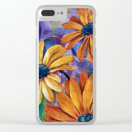 Colorful skull with flower shop Clear iPhone Case