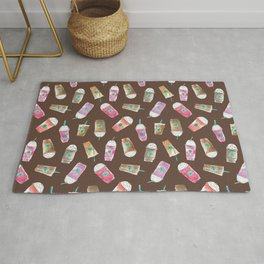 Coffee Crazy Toss in Expresso Brown Rug