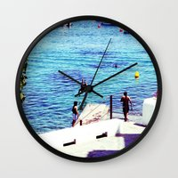 spain Wall Clocks featuring spain by Natalee