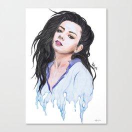 Charli XCX Slime Canvas Print