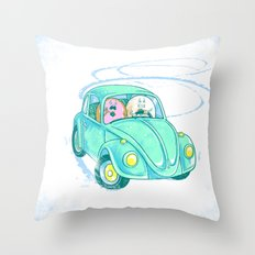 We're Doing Donuts!  Throw Pillow
