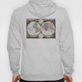 Map of the world in two Hemispheres - 1730 Hoody