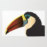 toucan Area & Throw Rugs featuring Toucan by Frida Strömshed