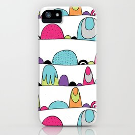 Mid Century Patterns and Illustration iPhone Case