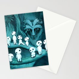 Kodama and the Forest Spirit Stationery Cards