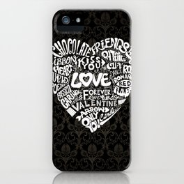 Dino's in Love iPhone Case