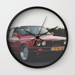 red car Wall Clock