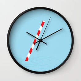 Soda straw Wall Clock