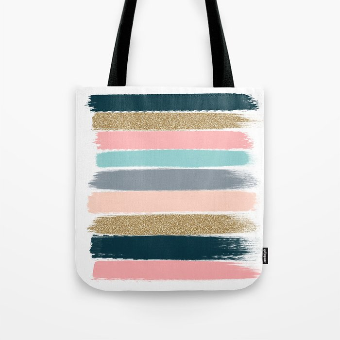Zara - Brushstroke glitter trendy girly art print and phone case for young trendy girls Tote Bag