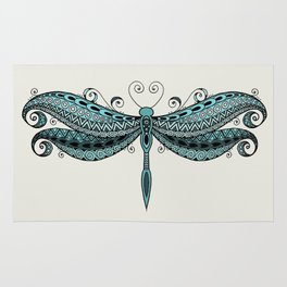 Dragonfly dreams turquoise Rug