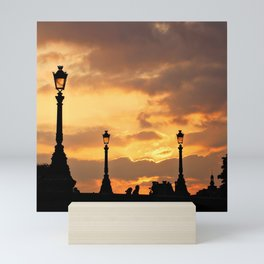 A sunset in Paris Mini Art Print