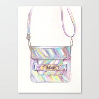 holographic Canvas Prints featuring holographic bag by Aya Kirya