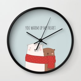 BEAR LOVE Wall Clock