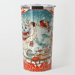 Golly Jolly Holly Travel Mug