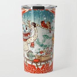 Golly Jolly Holly Travel Mug