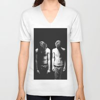 boys V-neck T-shirts featuring Boys by Brianne Daigle