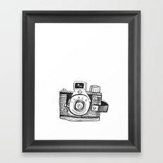 Camera Sketch Framed Art Print