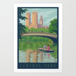 Bow Bridge, Central Park Art Print