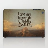 middle earth iPad Cases featuring I Left My Heart in Middle Earth by Leah Flores