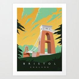 Vintage Bristol Poster Art Print
