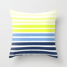 Stripes - Navy and Yellow -- Bright Summer Stripe Design for Cell Phone Case Throw Pillow