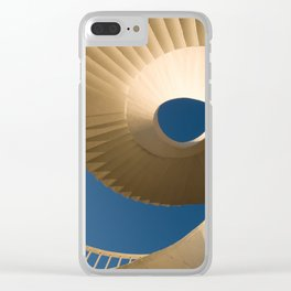 bottom view at twisted stairs Clear iPhone Case