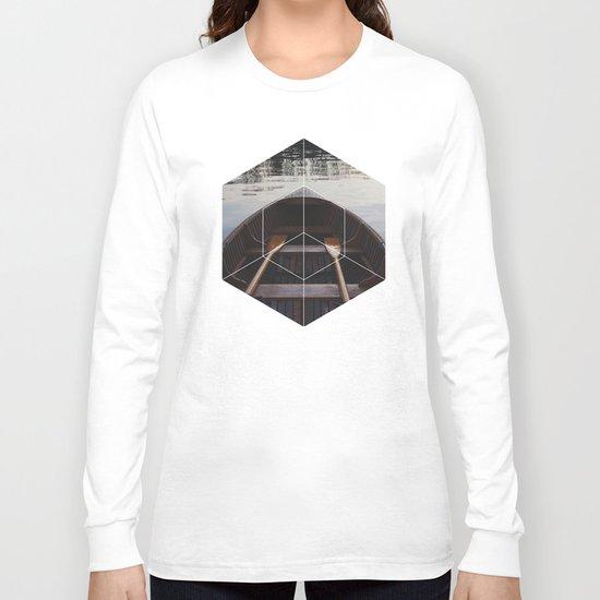 Peace of Mind Boat - Geometric Photography Long Sleeve T-shirt