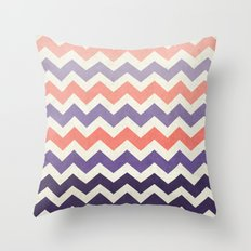 Pink Purple Chevron Throw Pillow