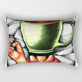 coffee head Rectangular Pillow