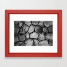 Honeycomb Abstract Framed Art Print