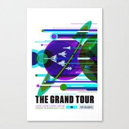 NASA Space Saturn Shuttle Retro Poster Futuristic Explorer Blue Canvas Print