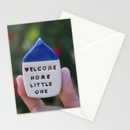 Welcome Home Little One House Stationery Cards