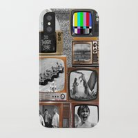tv iPhone & iPod Cases featuring Television by Logan Amick