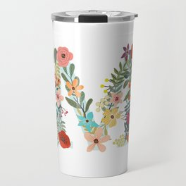 Monogram Letter M Travel Mug