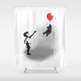 Little Black Rain Cloud Shower Curtain