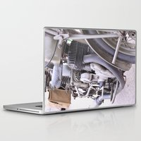 motorbike Laptop & iPad Skins featuring Old motorbike by Carlo Toffolo