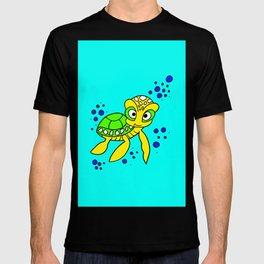 childishly Hand drawn turtle T-shirt