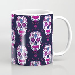 Sugar skull pattern. Mexican Day of the dead graphic. Coffee Mug