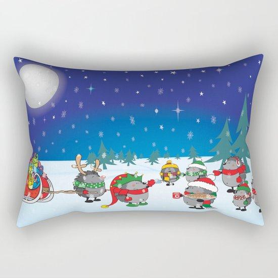 Hedgehog's Christmas magic Rectangular Pillow