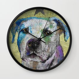Pit Bull Terrier Wall Clock