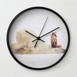 Foxy takedown Wall Clock