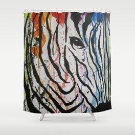 Splash of Zebra Shower Curtain